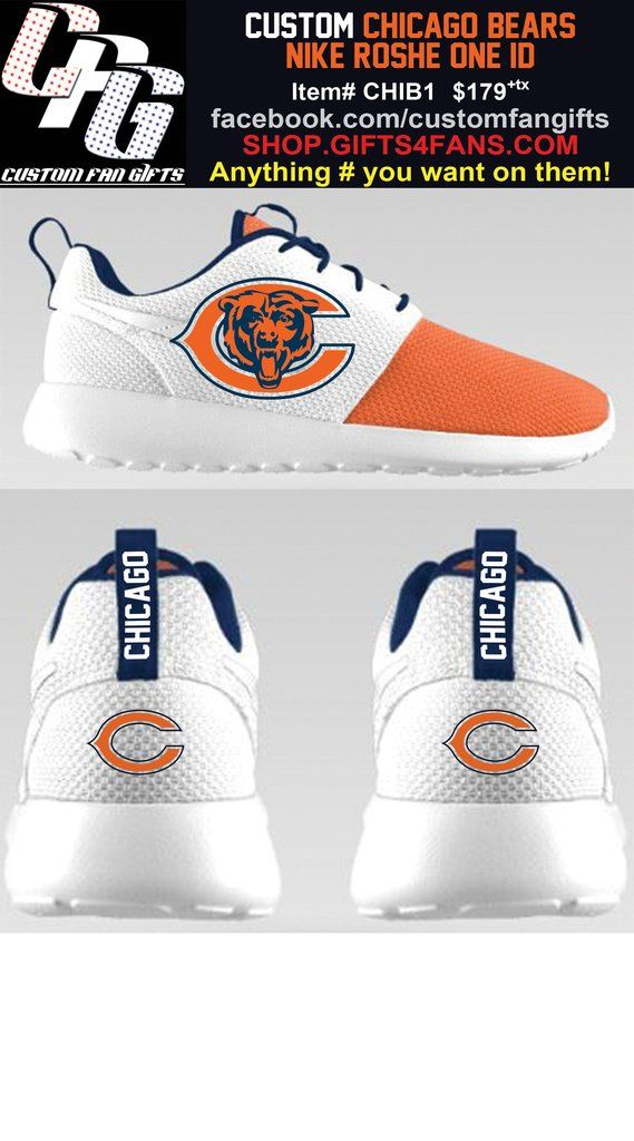 Custom-Made Nike Chicago Bears Roshe One Shoes