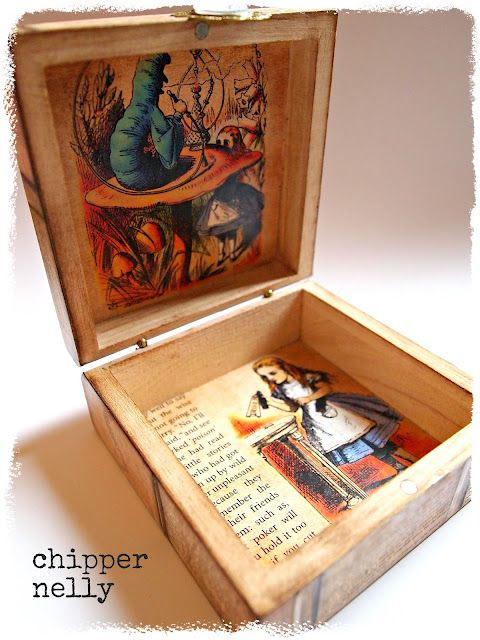 Now here's an idea that I can use on all the dollar cigar boxes I bought... some of them are made from the most beautiful wood.