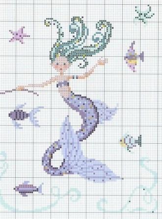 mermaid cross stitch