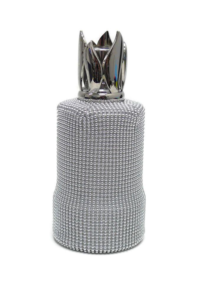 Vintage Lampe Berger Fragrance Lamp Maille Argent Baroque Silver Beaded LampeBerger
