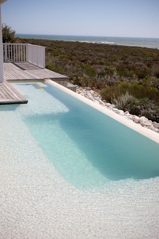 Perfectly secluded, private pool (perfect for a little bronzage nue or a moonlit skinny dip)- At the Beach, Britannia Bay http://www.perfecthideaways.co.za/britannia/at-the-beach #capetown #beach