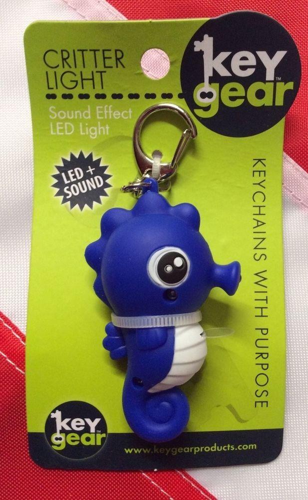 Seahorse key chain wlight and sound gift emergency back to school gear keygear