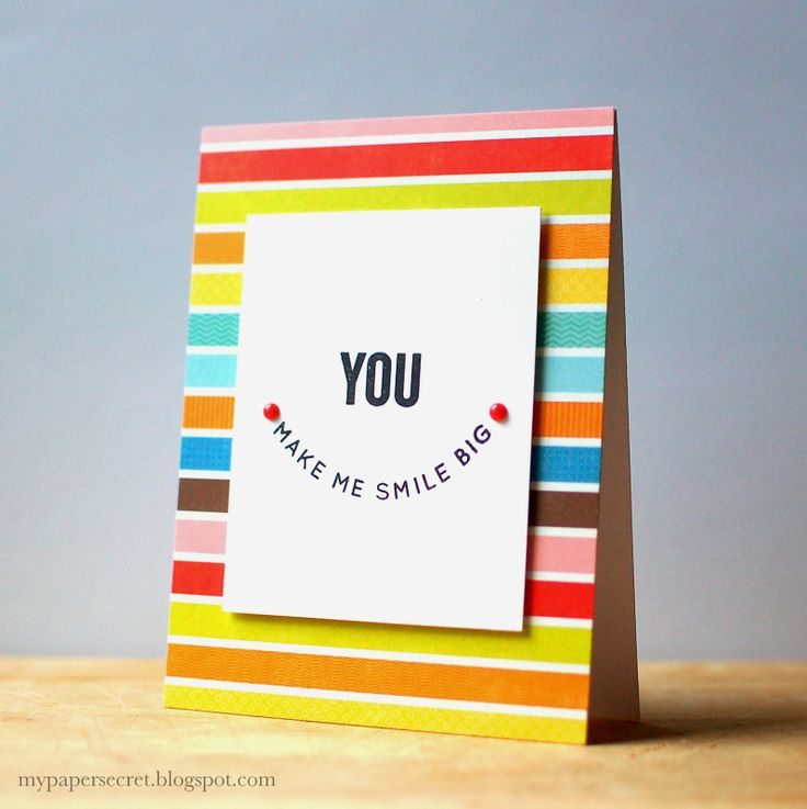 You Make Me Smile Big by Christina using Simon Says Stamp Exclusives.  March 2014