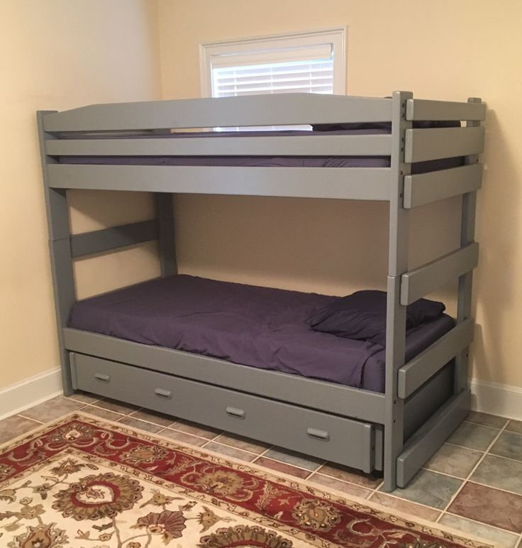 triple bunk bed sleeps three in the space of one bed stackable twin over twin with a twin. Black Bedroom Furniture Sets. Home Design Ideas