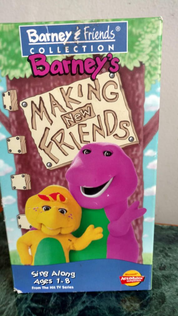 Vintage Barney The Dinosaur's 'Making New Friends'