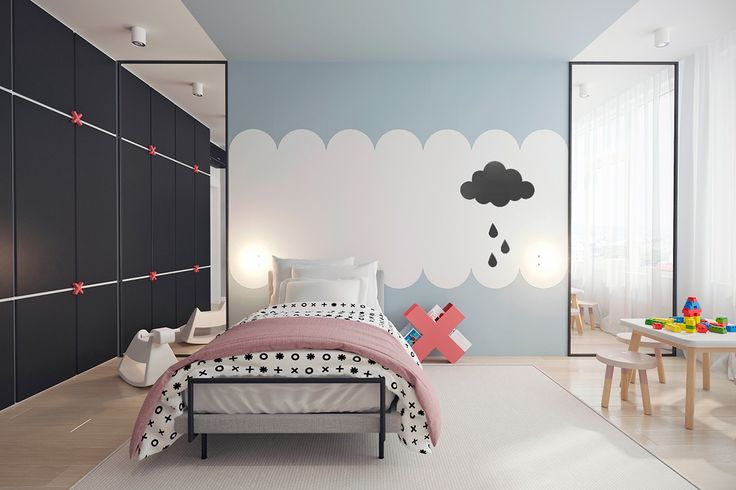 The cloud theme is also carried across the bedrooms. While the master bedroom…