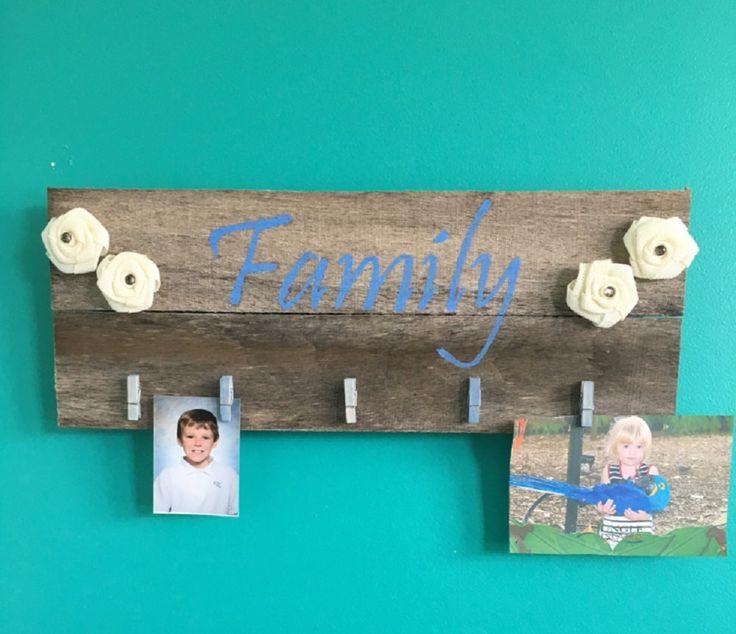 Family Photo holder; Rustic Family photo holder; Charming Country Family Photo Holder by EnhancedElegance on Etsy