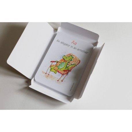 Carduri educationale Alfabetul vesel in engleza - Hippo Atelier