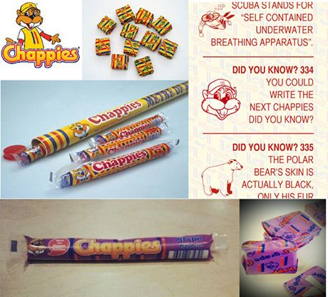 Chappies / sweets / childhood/ kinderdae / onthou/ did you know