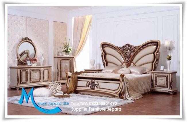 Set Kamar Tidur Mewah Ukiran Klasik Kupu-Kupu