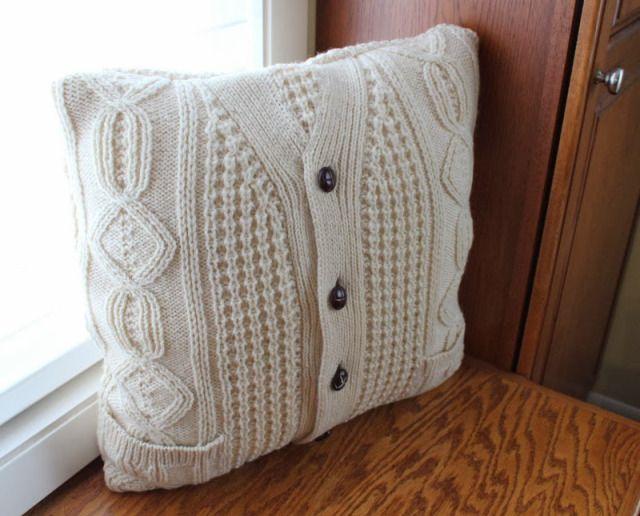 Дело DIY Upcycled свитер Подушка | Maiden Джейн