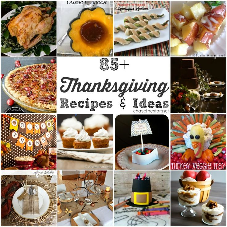 85+ Thanksgiving Recipes and Ideas, your ultimate guide to #Thanksgiving! via Chase the Star  #recipe #diycrafts