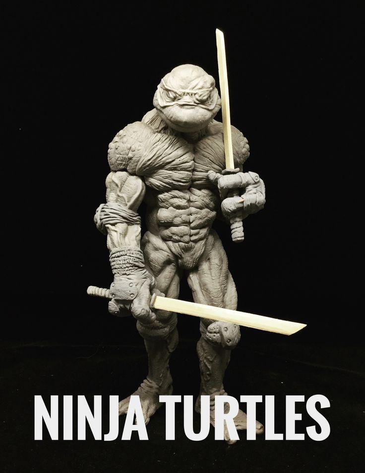 sculpture ninja turtles!