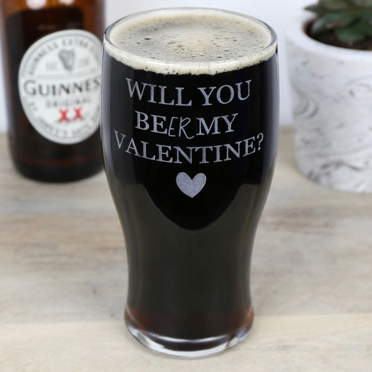 Looking for a Valentine's Day Gift for your love? This Personalised Engraved Pint Glass is perfect! Lisa Angel offers Free Worldwide Delivery.