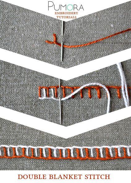 Pumora's embroidery stitch-lexicon: the double blanket stitch