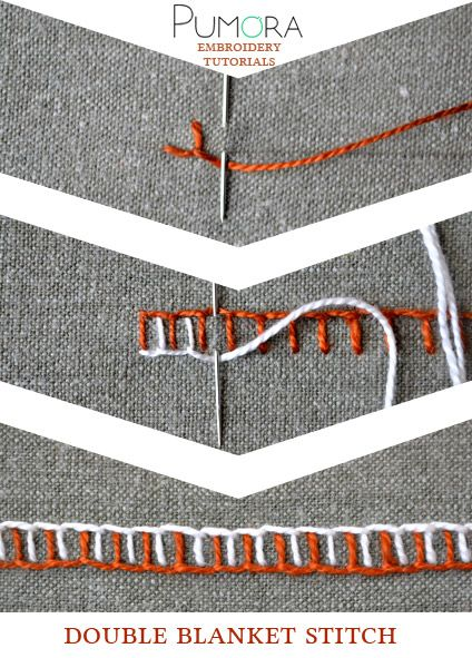Pumora's embroidery stitch-lexicon: the double blanket stitch