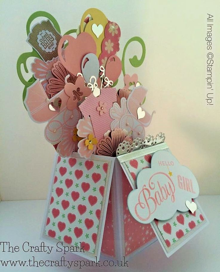 The Crafty Spark: Baby Girl Card-in-a-Box