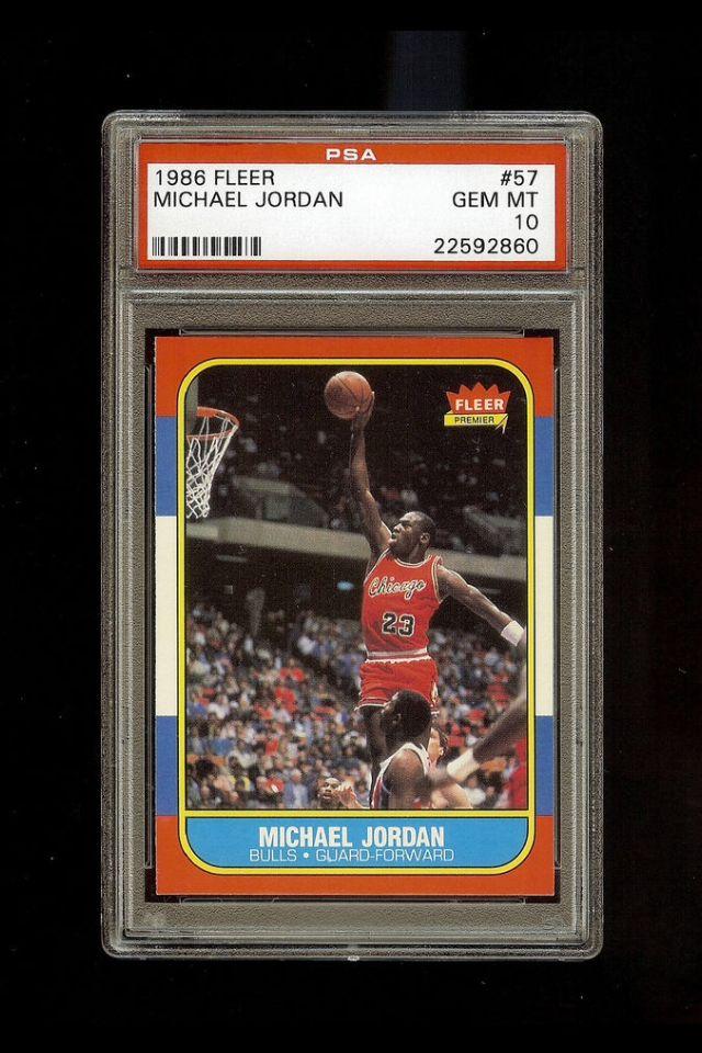 MICHAEL JORDAN 1986-87 Fleer Rookie #57. Graded PSA 10 Gem Mint!~ sells at auction for $17,500.00