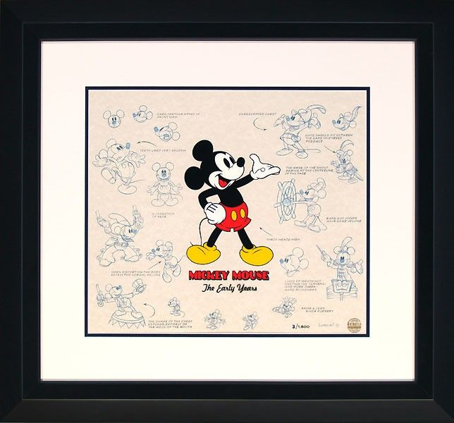 Mickey Mouse - The Early Years - Lumicel - World-Wide-Art.com - #disney #mickeymouse