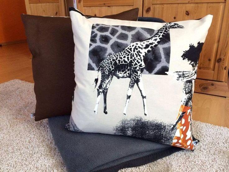 Kissenbezug 50 x 50 braun beige grau Afrika modern Kissenhülle ohne Kissen in Möbel & Wohnen, Dekoration, Dekokissen | eBay!