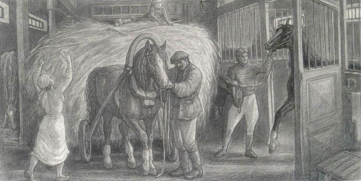 Людмила Томашевская - люди и кони. Семья конюха.
