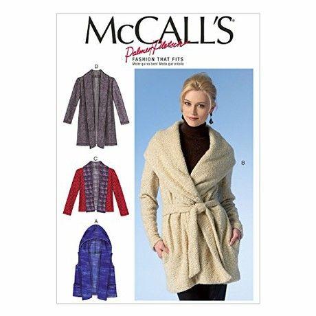 Mccall's Patterns MC7057ZZ Misses Vest Jacket and Belt Sizes