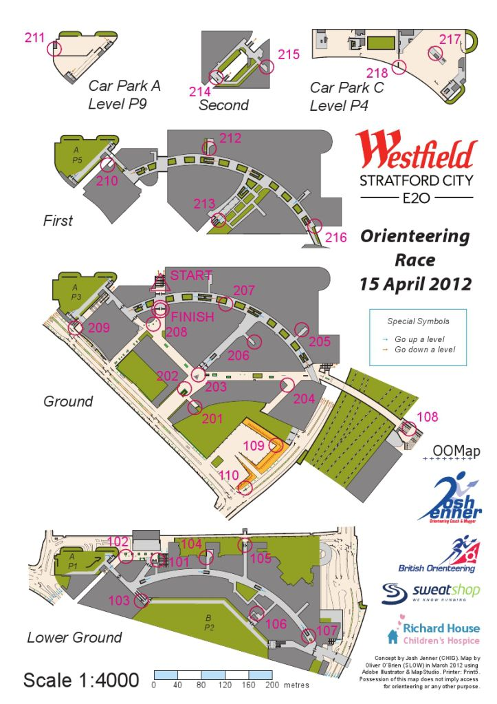 Orienteering in a shopping Centre