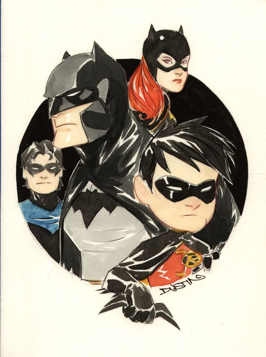 dustin nguyen art | Here's Dustin Nguyen's take on the Bat Family that is included in ...