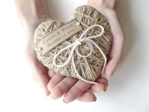 Porteur de l'anneau - réutilisation comme ornement de Noël - personnalisé avec les modèles originaux de dentelle - support de bague de mariage, bague de mariage oreiller- sur Etsy, 13,64€