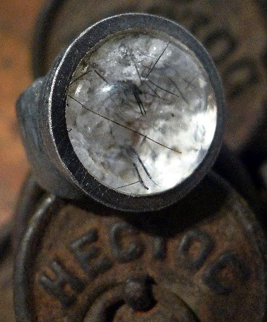 Anillo lodlita plata oxidada. Anell lodolita plata oxidada. Lodolite ring in oxid silver
