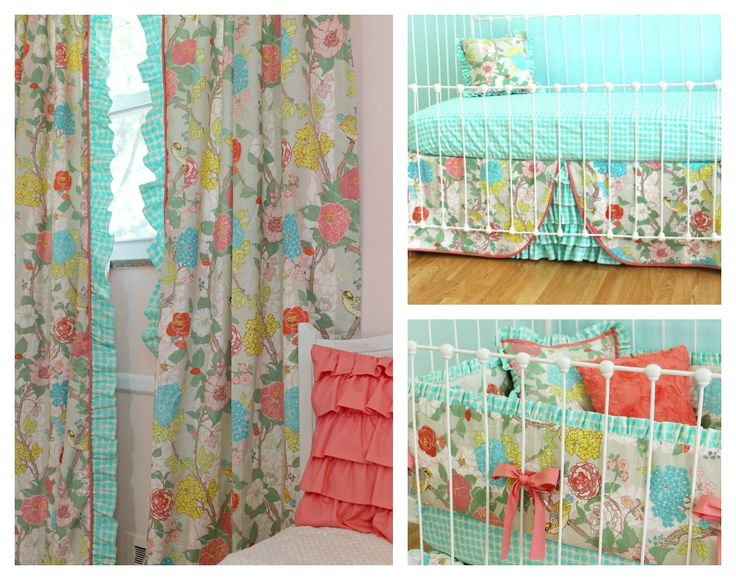 Loving this vintage-y floral crib bedding look from ...
