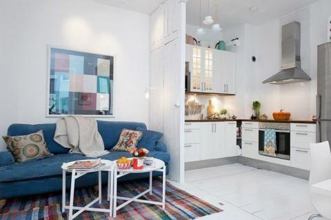 Ковер, разделяющий зоны в квартире