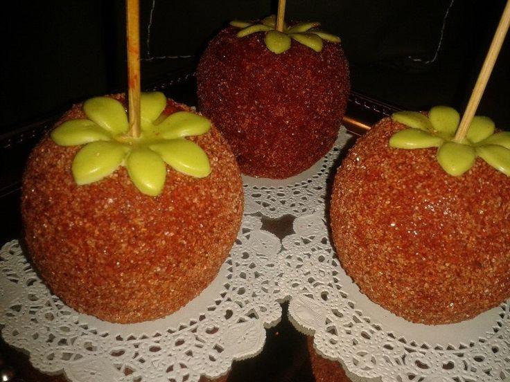 Manzanas con tamarindo y chile