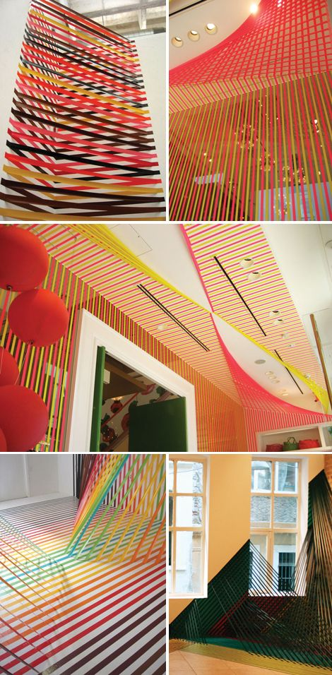 #katespade tokyo store (2) #rebeccaward gaffers tape installation