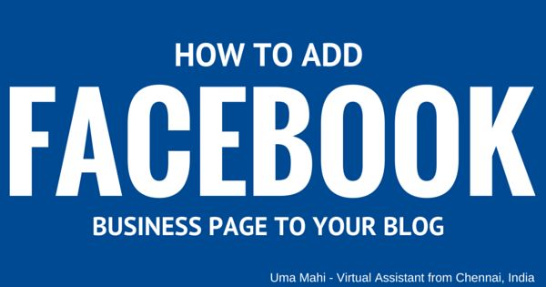 Help For Small Business Owners: How to add Facebook Business Page to Blogger