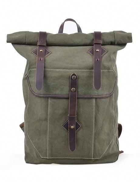 Vintage Washed Canvas Outdoor Travel Backpacking Backpack