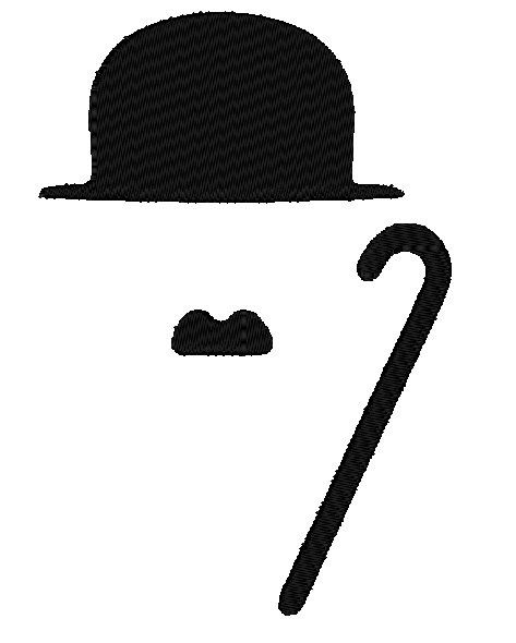 charlie chaplin fill 6 sizes style moustache by. Black Bedroom Furniture Sets. Home Design Ideas