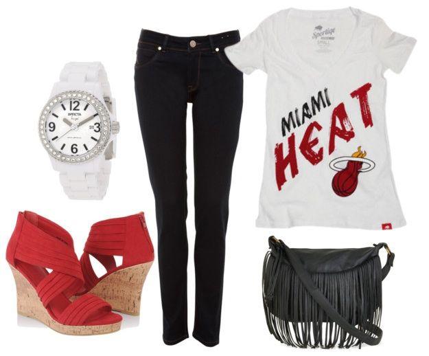 Miami Heat OutfitFashion Outfit, Miami Heat Outfit, Heat Baby, Fans Outfit, Heat Outfit Minus, Heat Fans, Miami Heat 3, The Heat, Heat Games