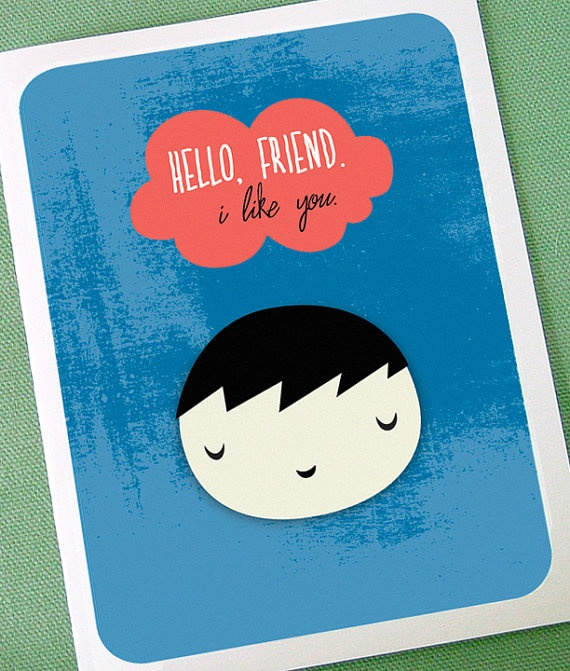Little Friend Card: Illustration, Beschreibt Schön Karten