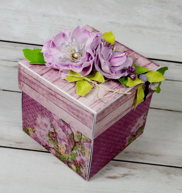 handmade by zielona-mi: #BoxBlog urodzinowy exploding box