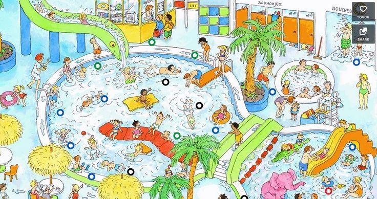 Interactieve praatplaat 'Zwembad'