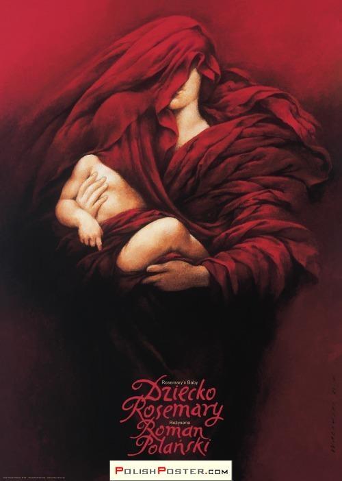Polish Poster School - Wieslaw Walkuski - Rosemary's Baby