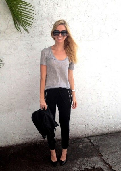 Sweats & stilettos.Fashion Blog