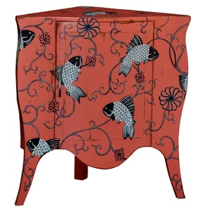 Always buy at least one corner cabinet or table for your home. But if it has fish on it like this one, you will have to wrestle me for it.