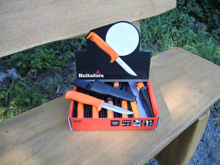 WERBUNG:  Hultafors Messer HVK - das Allzweckmesser mit stabilem Holster, kostengünstig im 10 er Pack, Carbonstahl, Härte 58-60 HRC