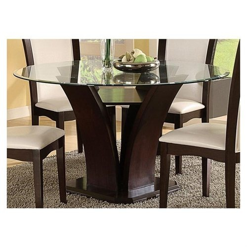 Mauna Tempered Glass Top Round Dining Table Set: 15 Best Round Glass Tables Images On Pinterest