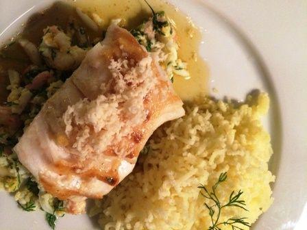 torsk med pepparrot och brynt smör