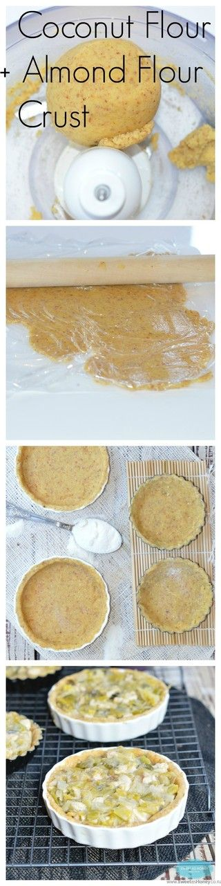 Grain Free pie crust made with almond meal and Coconut flour. Sugar free. Perfect for a dessert pie or lunch pie. By http://www.sweetashoney.co.nz/?utm_campaign=coschedule&utm_source=pinterest&utm_medium=Keeper%20of%20the%20Home%20(Real%20Food%20Baking)