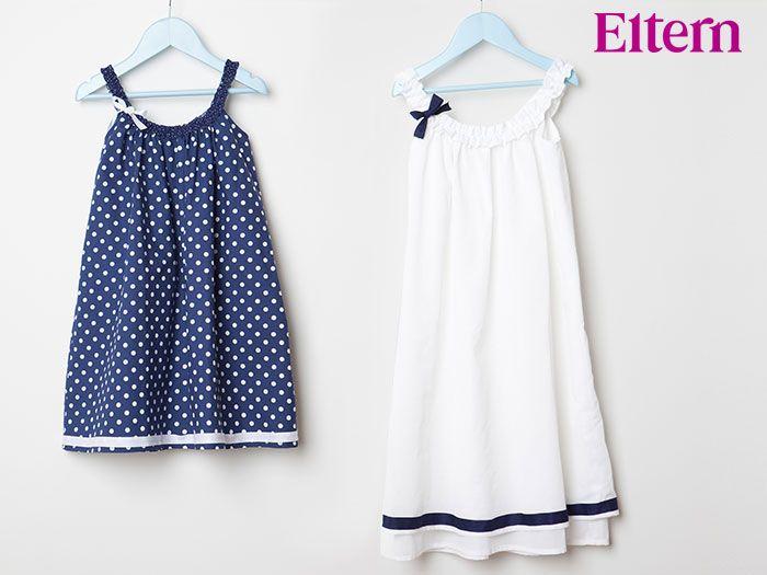Mit diesen zauberhaften Nachthemden gehen kleine Mädchen bestimmt freiwillig ins Bett. Die Zeitschriften ELTERN und ELTERN family haben Dir die dazugehörigen Schnittmuster mitgebracht.