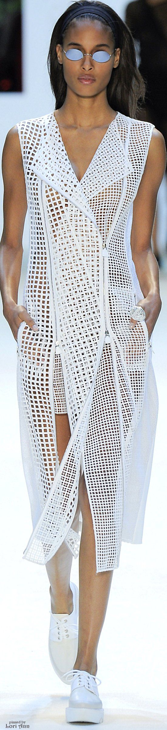 """Akris Spring 2016 RTW """"And the LORD said to Moses, """"Go to the people and consecrate them today and tomorrow. Have them wash their clothes."""" Exodus 19:10"""